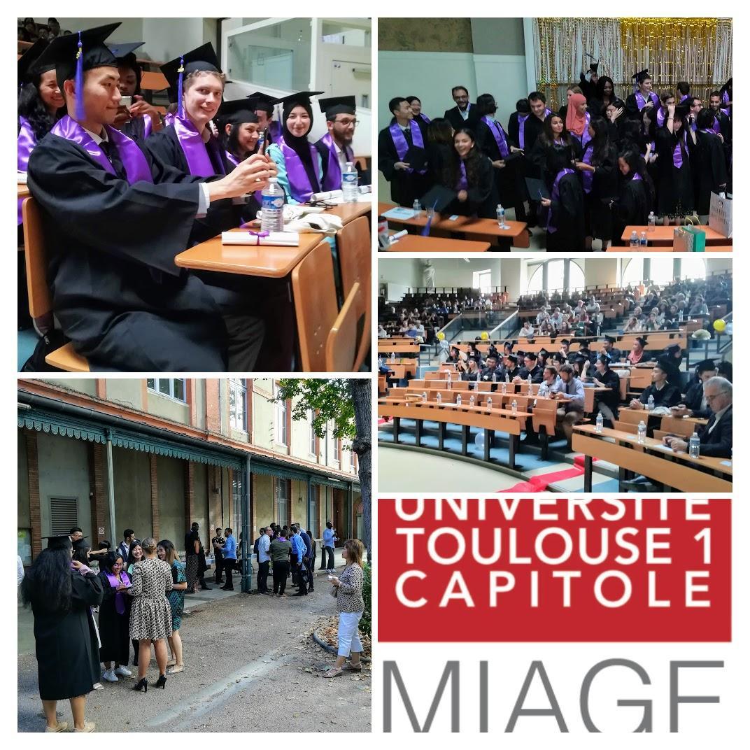 Très belle cérémonie de remise des diplômes pour les étudiants de MIAGE !
